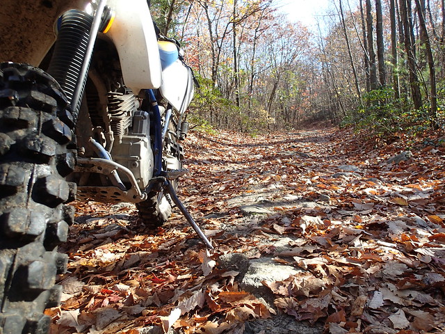 The Mighty Suzuki DR350, October 2013 in Rhode Island
