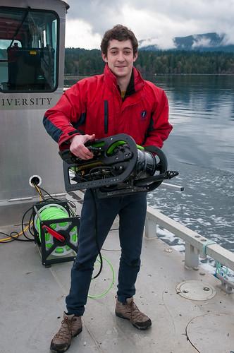 Benjamin Al - with Seabotix ROV
