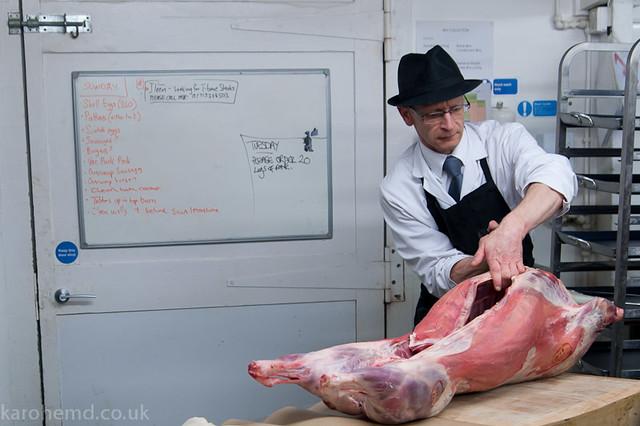 Butchering a lamb