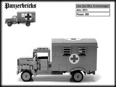 Lkw Opel Blitz Krankenwagen de Panzerbricks