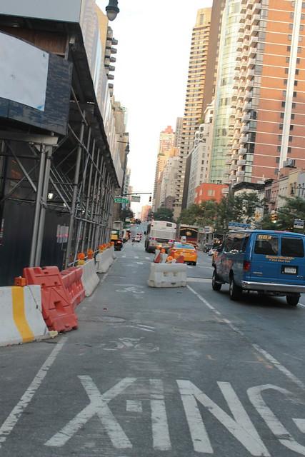 Temporary Protected #bikeNYC Lane