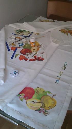 pintando un mantel de frutas by alialba