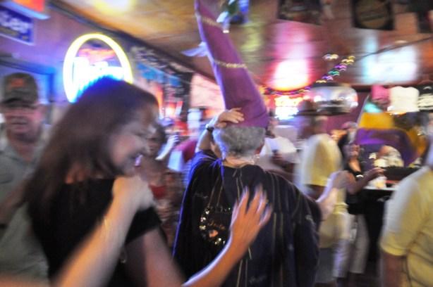 Tante Sue Leads a Train, Fred's Lounge, Mamou, Louisiana, Oct. 12, 2013