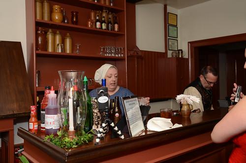 Old timey drink bar