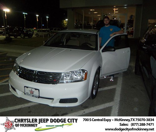 Happy Anniversary to Nathan Conder on your 2013 #Dodge #Avenger from David Walls  and everyone at Dodge City of McKinney! #Anniversary by Dodge City McKinney Texas