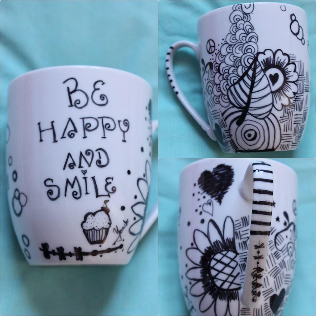 Diy tazas decoradas con rotulador the art of cupcakes - Tazas decoradas a mano ...