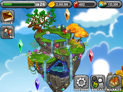 My gemstone island in DragonVale