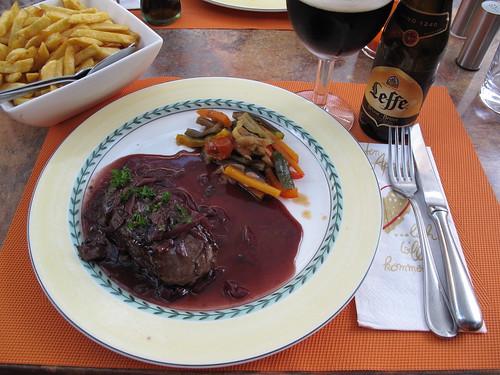 Filet de Cheval Echalote im Restaurant Beim Cyrille (in Echternach)