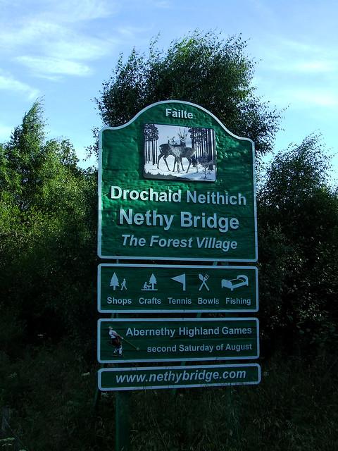 Nethy Bridge sign