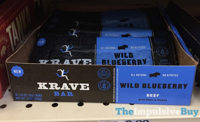 Krave Bar Wild Blueberry Beef