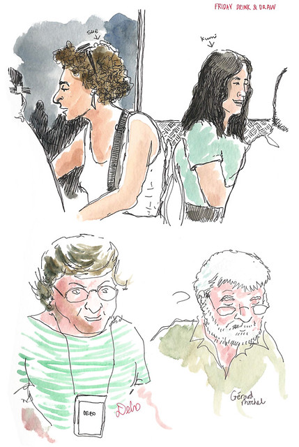 BCN DrinknDraw people