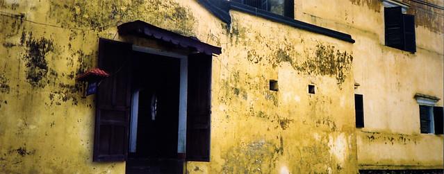 yellow wall Hoi An, Vietnam