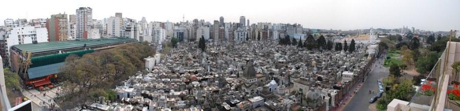 Panorámica de Cementerio de Recoleta