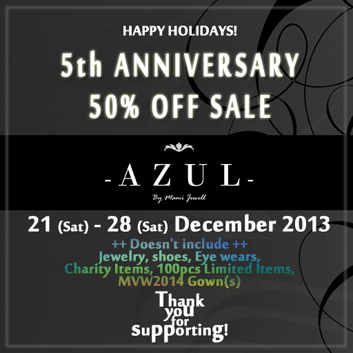 20131221 5thAnniversary Sale