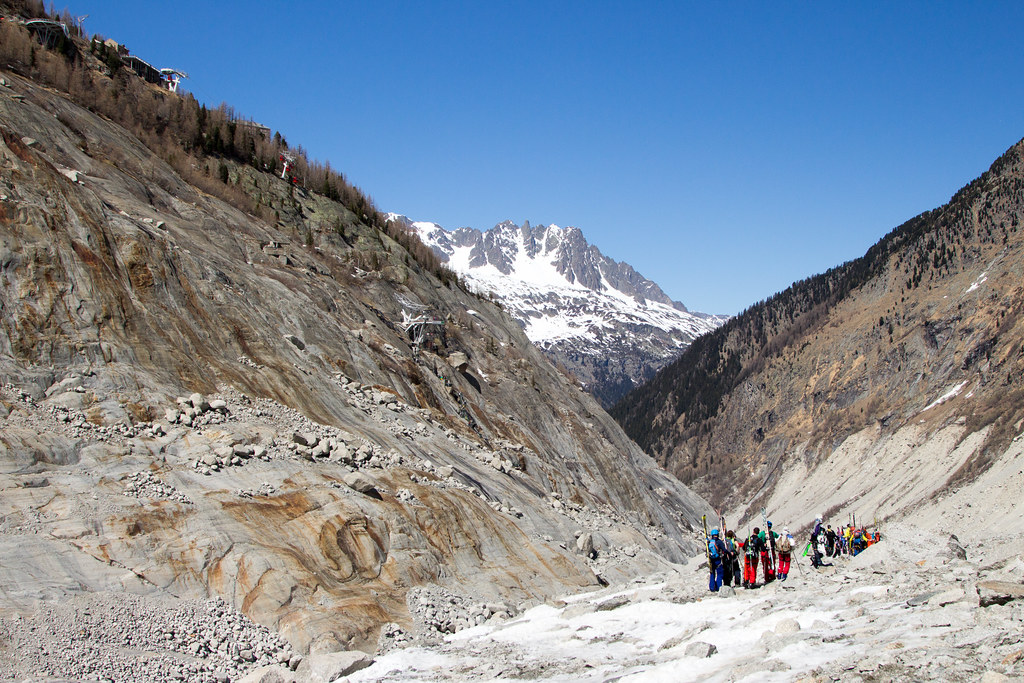 Exiting the Mer de Glace in the Vallée Blanche