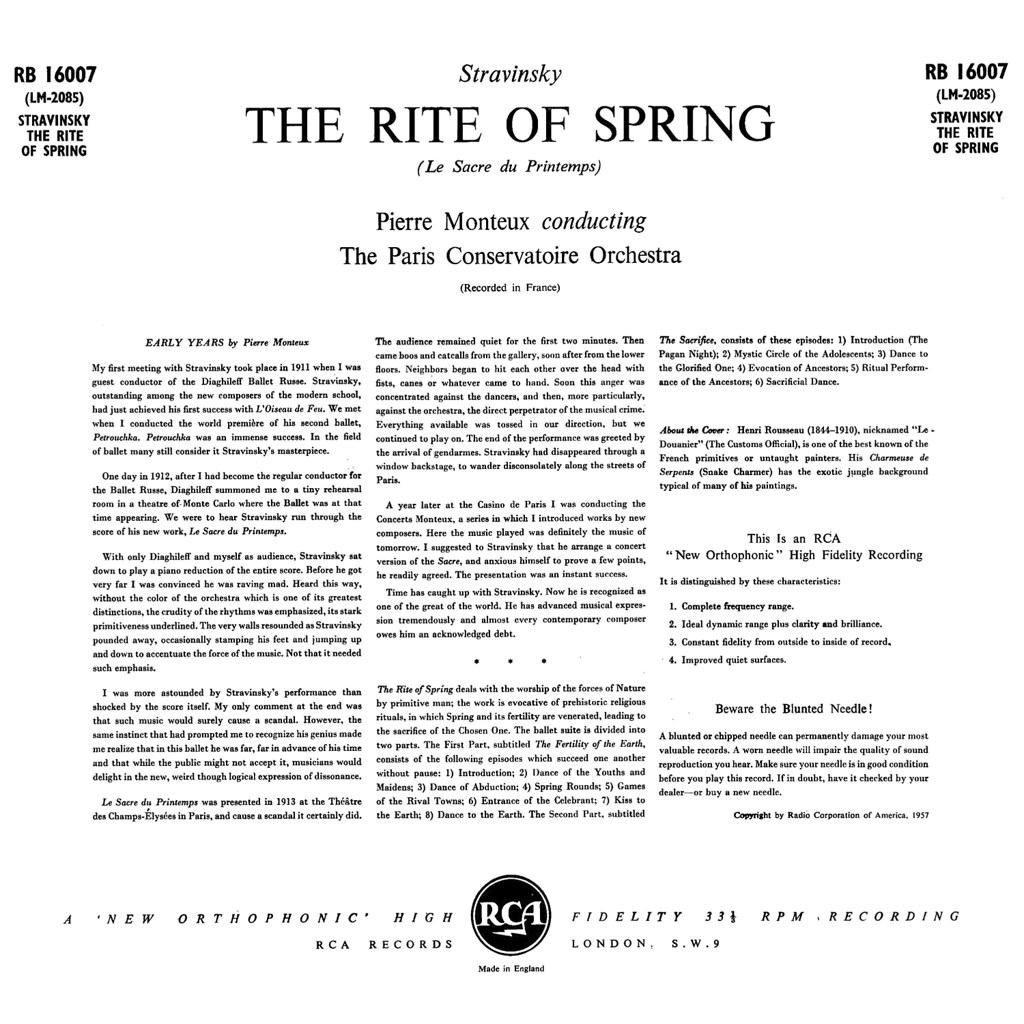 Igor Stravinsky Rite of Spring (1913)