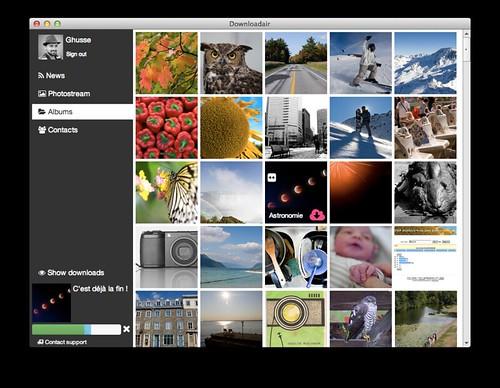 Downloadair: télécharger ses photos flickr