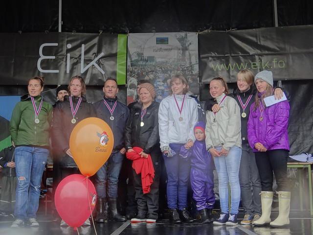 Winners of the Klaksvík 2013 Seaman's Day Swim