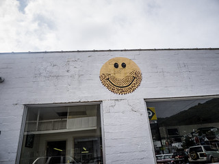 Weird Smiley Face at Richwood, West Virginia