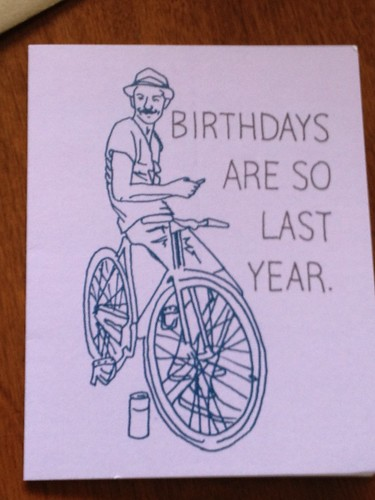 Leah Nails the Birthday Card by Rootchopper