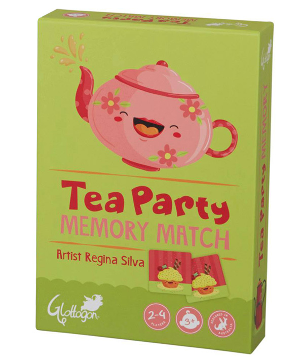 Illustrations for Glottogon's Tea Party Memory Match game