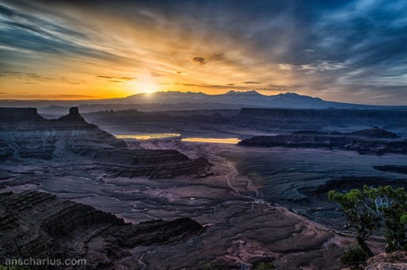 Sunrise over La Sal Mountains - Noise Reduction