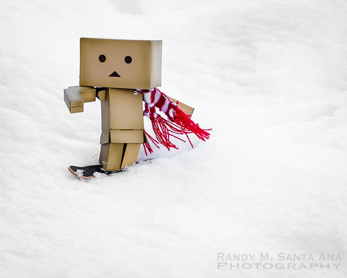 Danbo Hits The Slopes.