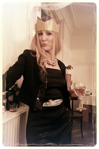 me in my paper crown.  #NYE #PARIS