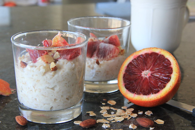 Overnight Oats with Blood Orange and Almonds