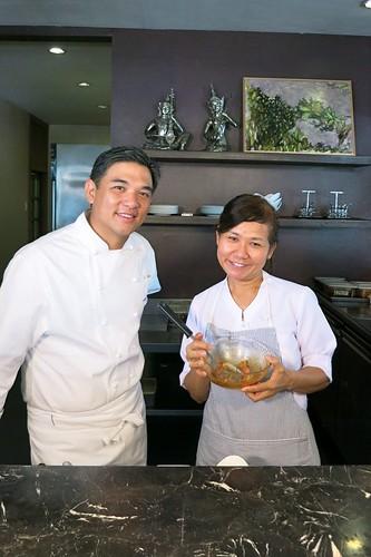 Azuthai's J Gamboa and Chef Malichat