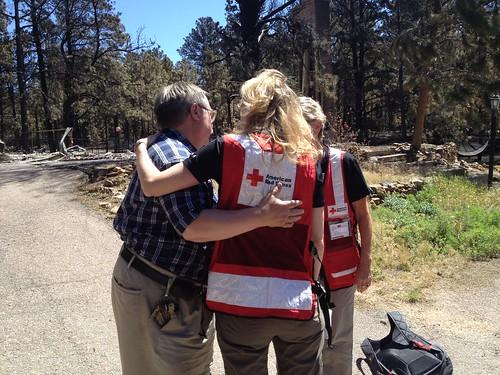 Red Cross worker, Catherine Barde and John Bradshaw