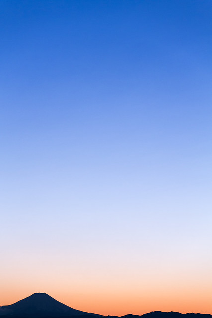 Winter Fuji and Sunset
