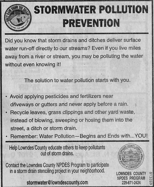 Stormwater Pollution Prevention --Lowndes County NPDES Program