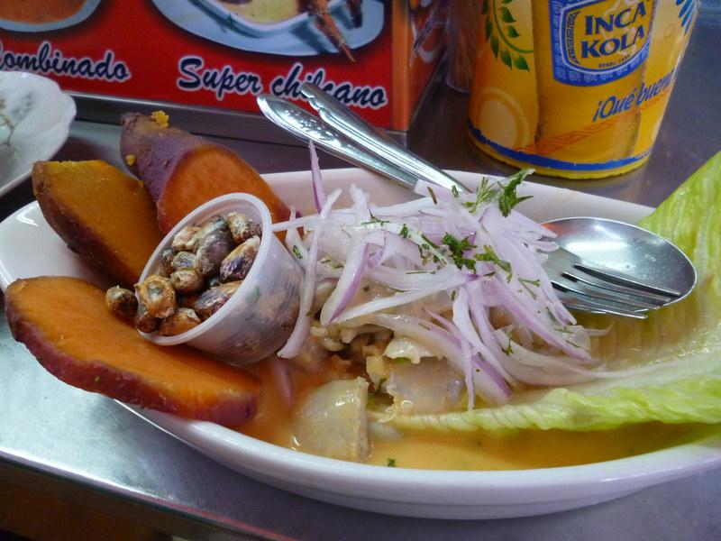 Ceviche from San Camilo market