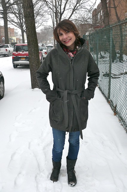 Style Arc Romy Anorak made with twill and flannel from Mood Fabrics