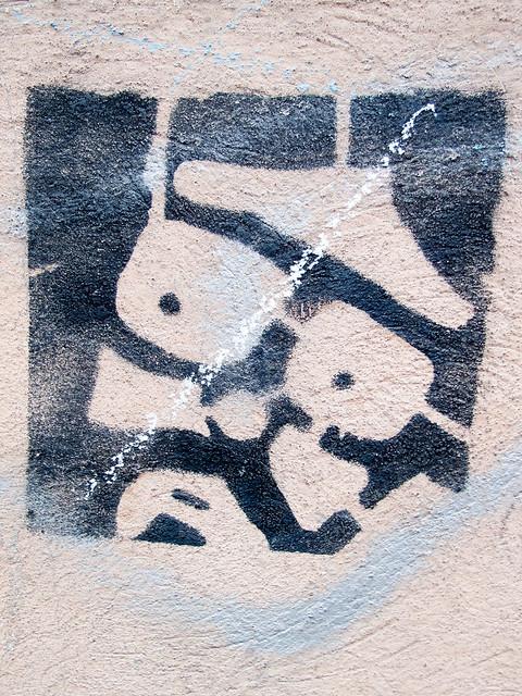 Mans face - Stencil
