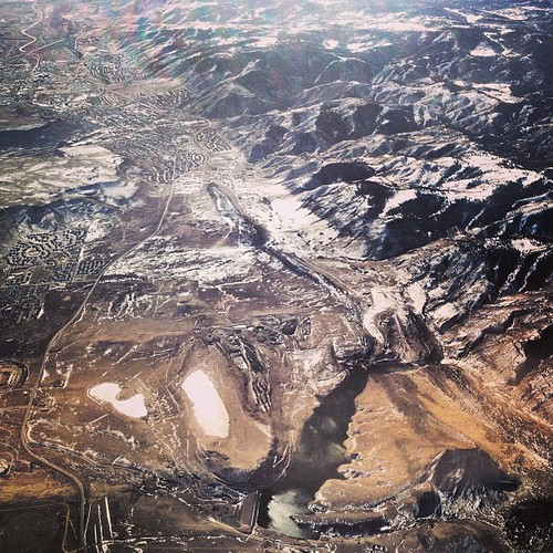 Golden, CO area from the air by @MySoDotCom