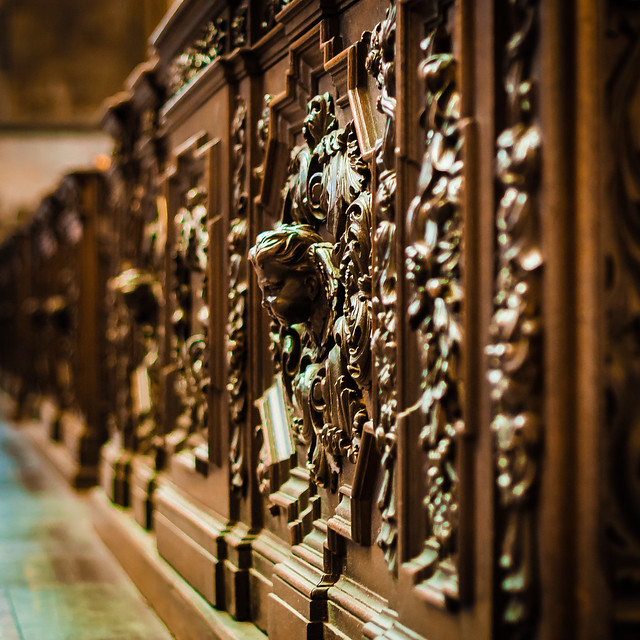 St Vitus Cathedral Pew. Prague Castle