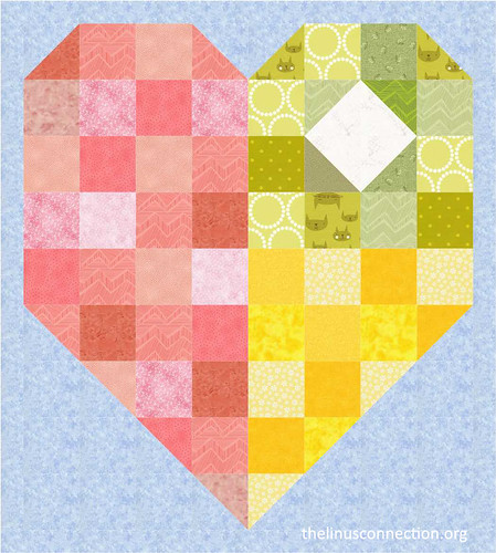 Big Linus Heart Patchwork Quilt