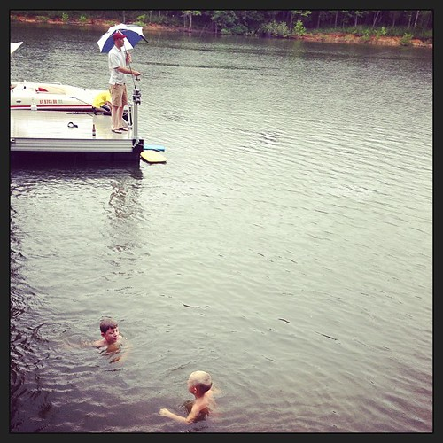 Swimming and fishing in the rain #buffalojunction