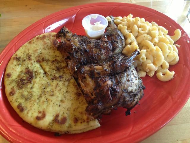 Open flame chicken meal - Goood Frikin' Chicken