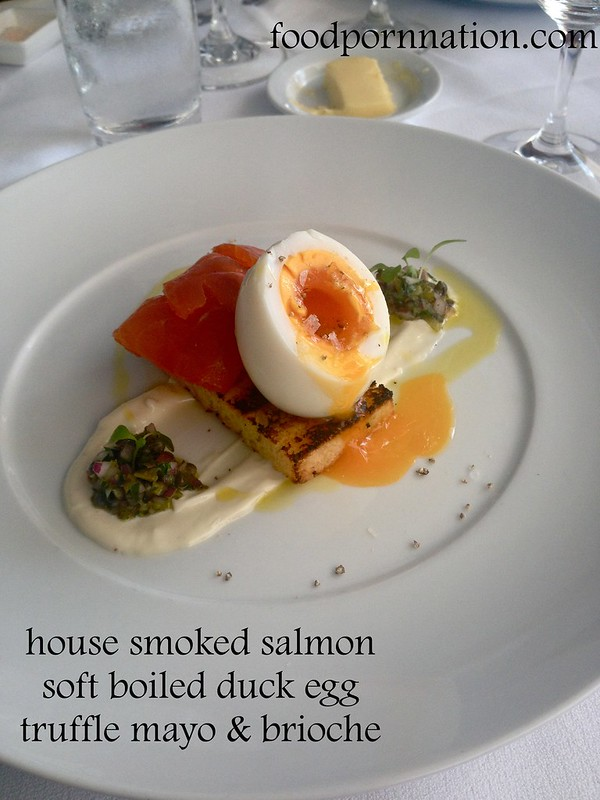 smoked salmon, egg & truffle mayo