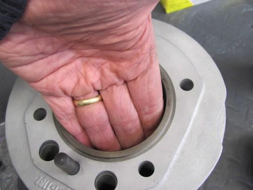 Applying Light Oil Film on Inside of Cylinder Bore