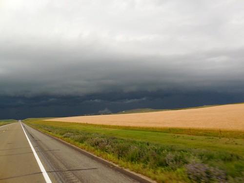Wicked dark clouds