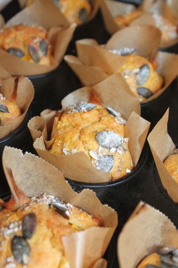 Kürbis-Rosmarin-Muffins