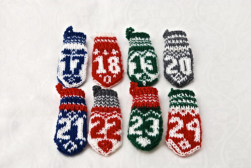 Mini mitten advent calendar