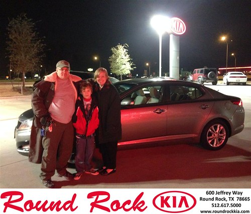 Thank you to Margaret & Tony Marazzo on your new 2013 #Kia #Optima from Jorge Benavides and everyone at Round Rock Kia! by RoundRockKia
