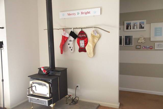 No Mantel Stocking Solution