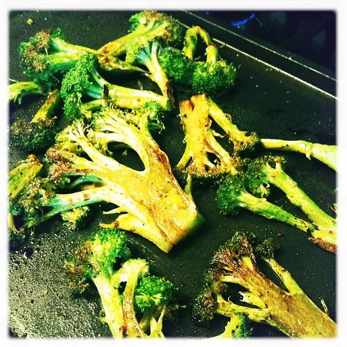stovetop seared broccoli
