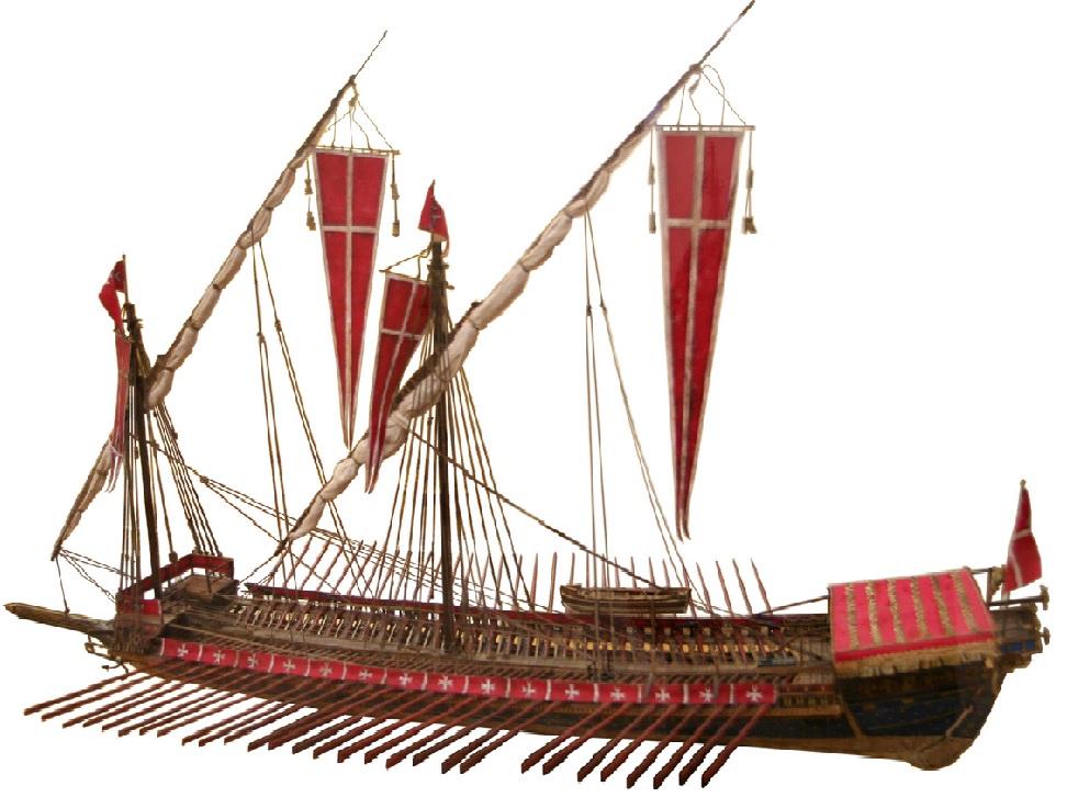 Modelo de una galera de la Orden de los Caballeros de San Juan. Autor, Thyes